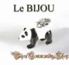 Rhodinierter Bettelanhänger Pandamotiv