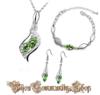 Kristall Diamant Schmuck (grün)