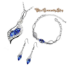 Kristall Diamant Schmuck (blau)