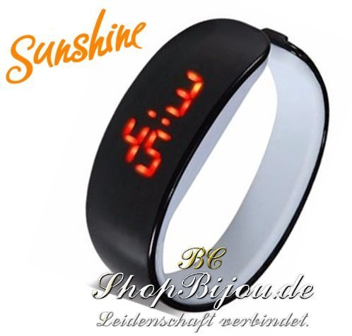 Sunshine, LED, Digitaluhr Armbanduhr (Schwarz)