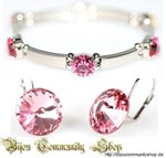 "Armschmuck & Ohrstecker ""Light Rose"" (+1795P)"