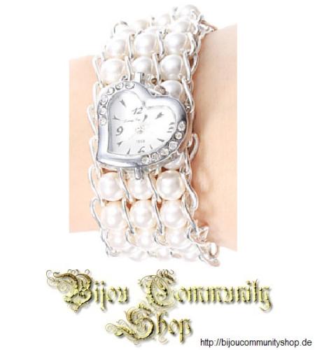 Damenuhr Pearl (Weiß / silberfarben)