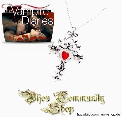 Herz Kreuz Halskette (Vampire Diaries)