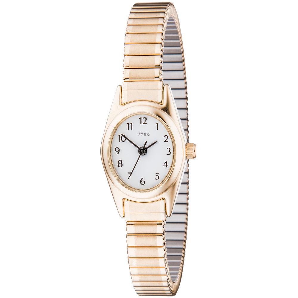 Jobo Armbanduhr Flexband Damenuhr (vergoldet)
