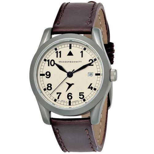 Herren Armbanduhr Fliegeruhr Messerschmitt Quarz