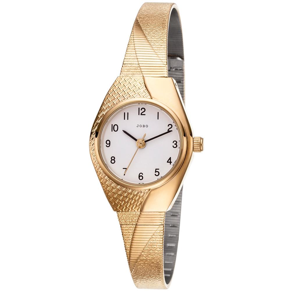 Jobo Damen Armbanduhr Quarz Analog (vergoldet)