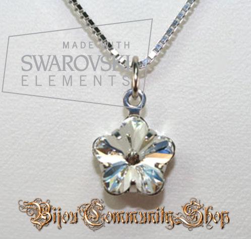"Swarovski-Kette Blütenserie ""kristall"""