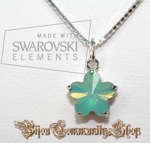 "Swarovski-Kette Blütenserie ""pacific opal"""