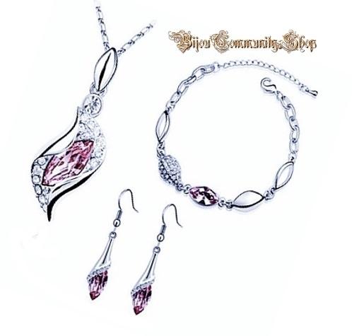 Kristall Diamant Schmuck (Violett)