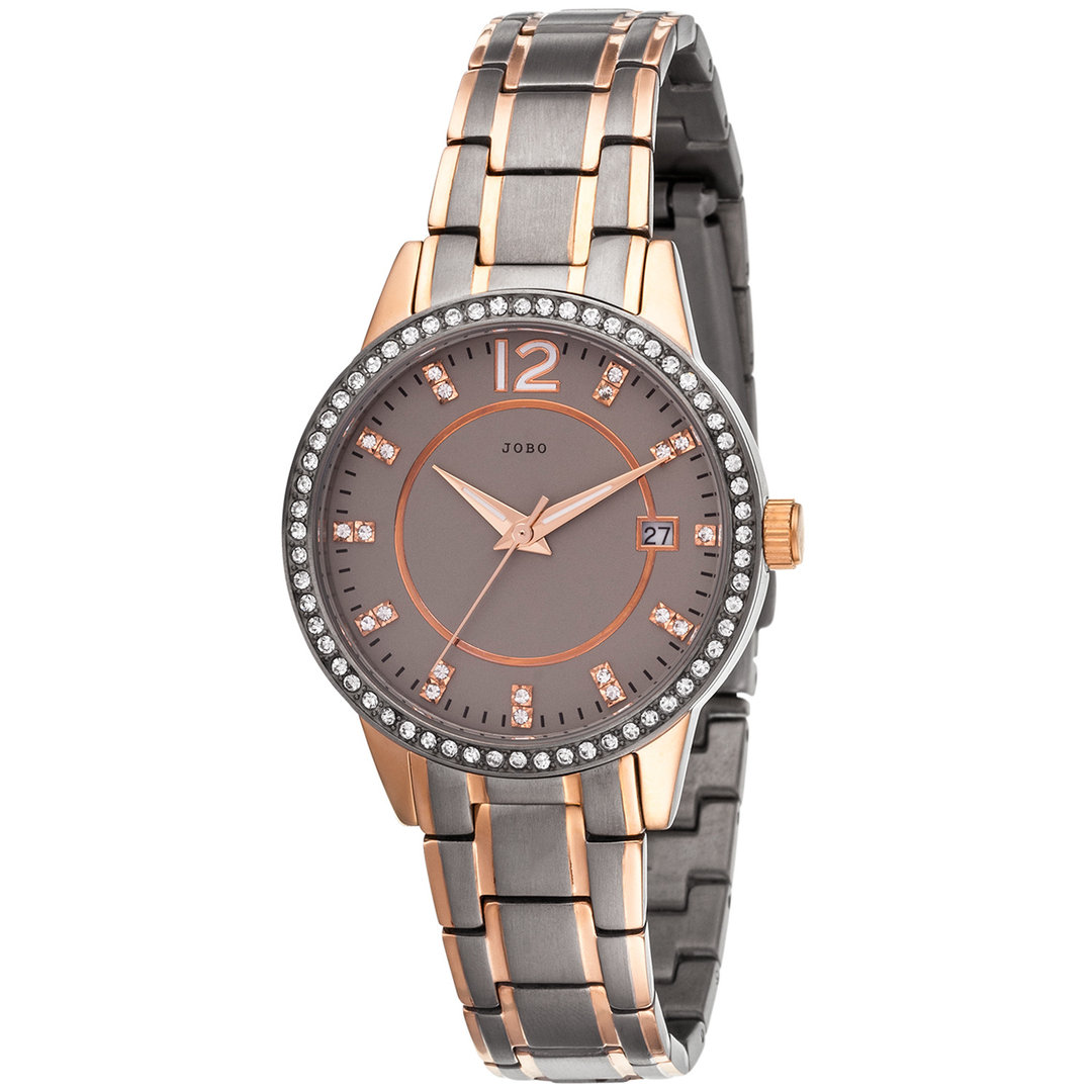 Damen Armbanduhr Quarz Analog Titan mit SWAROVSKI® ELEMENTS