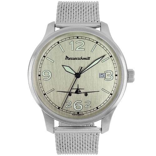 Herren Armbanduhr Messerschmitt Quarz Analog Aluminium