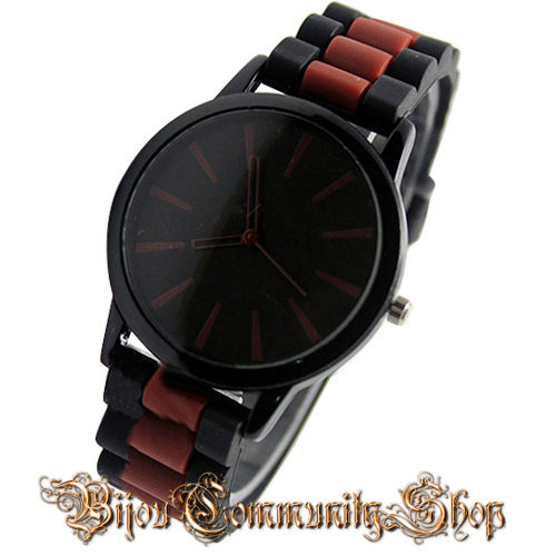 Unisex Sport Armbanduhr (Braun / Schwarz)