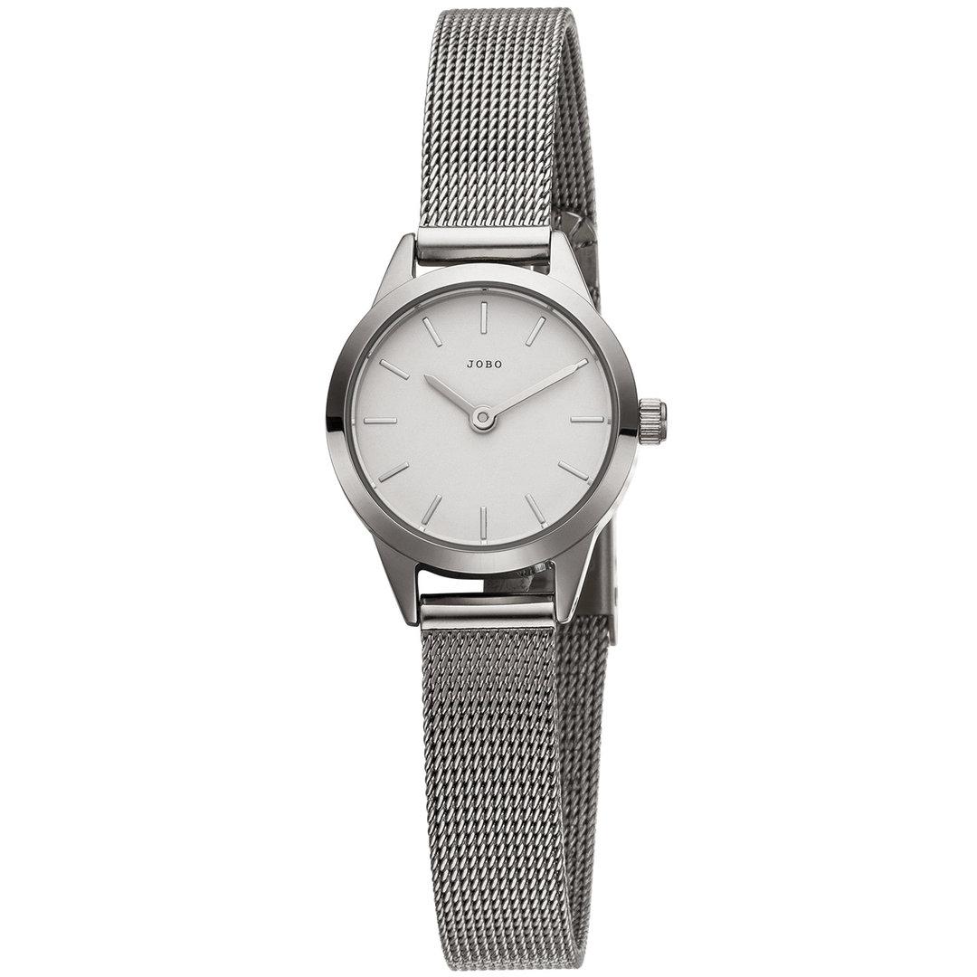JOBO Damen Armbanduhr Edelstahl (silberfarben)