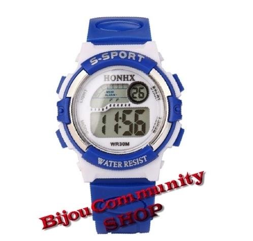 Elektronische LED Digital Uhr (Blau)