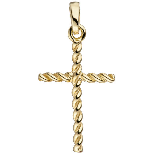 Anhänger Kreuz schmal 333 Gold / Gelbgold