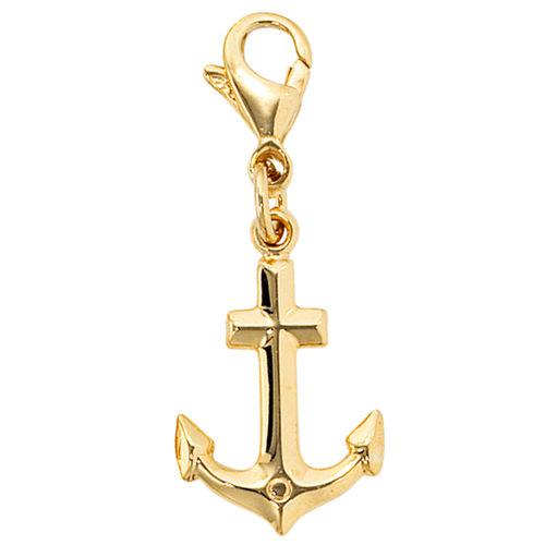Einhänger Charm Anker 333 Gold / Gelbgold