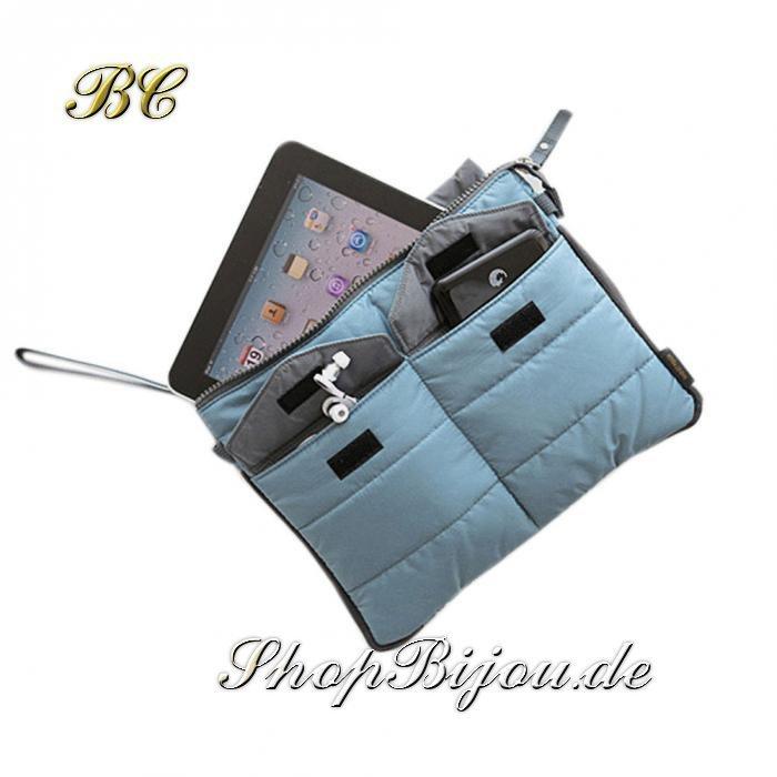 Unisex Organizer & iPad Tasche blau