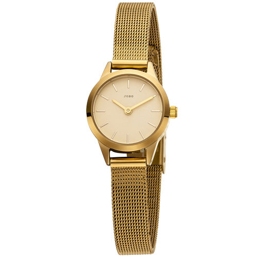 OBO Damen Armbanduhr Edelstahl (vergoldet)