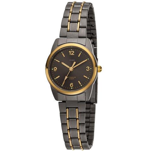 JOBO Damen Armbanduhr Titan bicolor (vergoldet)