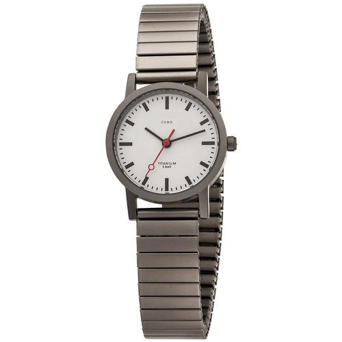 JOBO Damen Armbanduhr Titan mit Flexband
